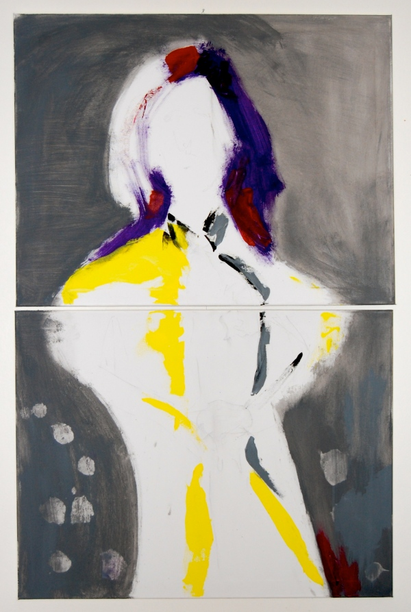 """""""Blown away"""" Egenmalt 2 lerret, 60X80 cm"""