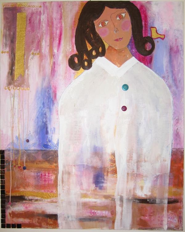 Å hviske i øret - Maria Gjerpe, mixed media